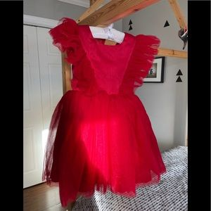 Trish Scully Milly Dress Crimson